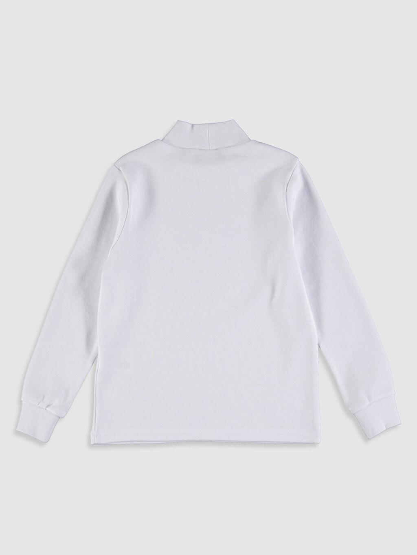 %100 Pamuk Düz Dar Tişört Balıkçı Yaka Uzun Kol Erkek Çocuk Uzun Kollu Basic Tişört