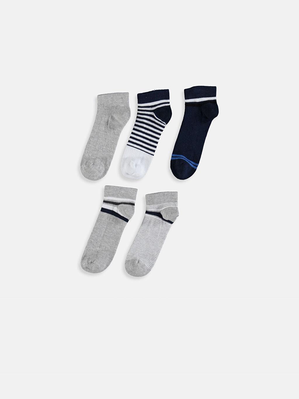 %56 Pamuk %24 Polyester %18 Poliamid %2 Elastan  Erkek Çocuk Patik Çorap 5'li