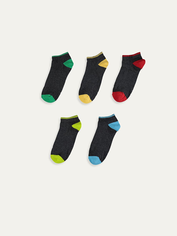 %59 Pamuk %21 Polyester %18 Poliamid %2 Elastan  Erkek Çocuk Patik Çorap 5'li