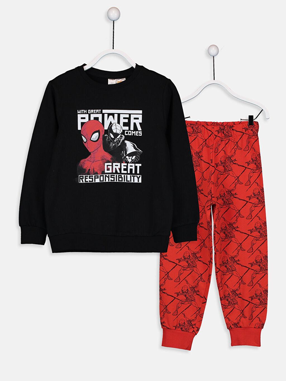 Siyah Erkek Çocuk Spiderman Pijama Takımı 9W3670Z4 LC Waikiki