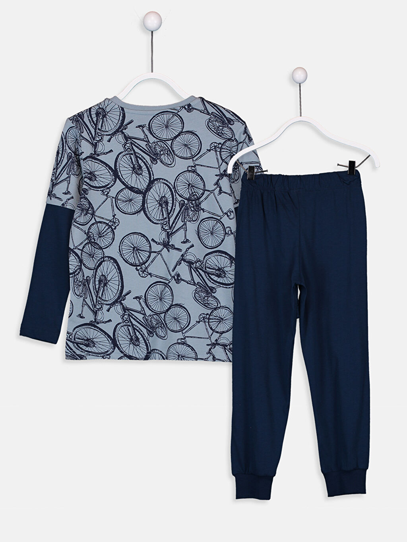 %100 Pamuk Standart Pijamalar Erkek Çocuk Uzun Kollu Pamuklu Pijama Takımı