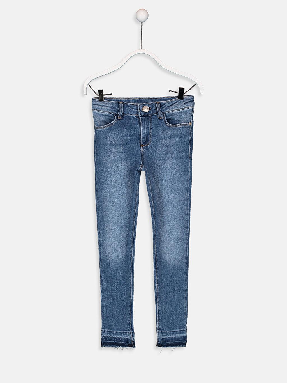 İndigo Kız Çocuk Skinny Fit Jean Pantolon 9W4177Z4 LC Waikiki