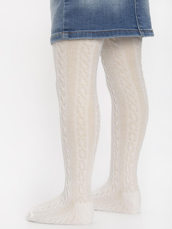 %80 Pamuk %19 Poliamid %1 Elastan Kız Çocuk Külotlu Çorap