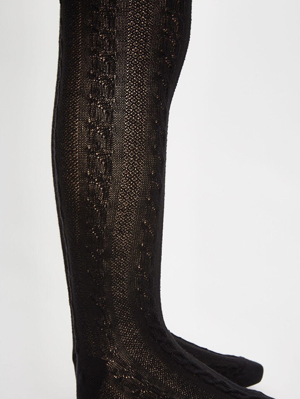 LC Waikiki Siyah Kız Çocuk Külotlu Çorap