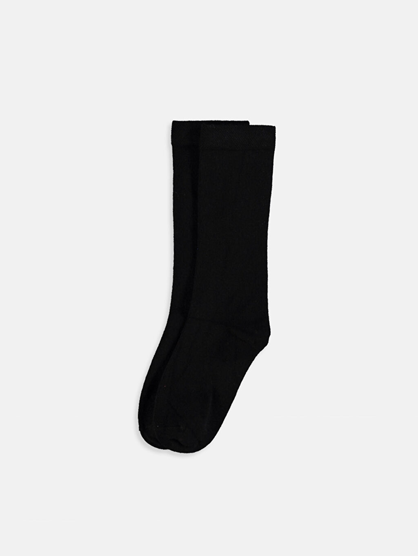 Siyah Kız Çocuk Dizaltı Çorap 9W4235Z4 LC Waikiki