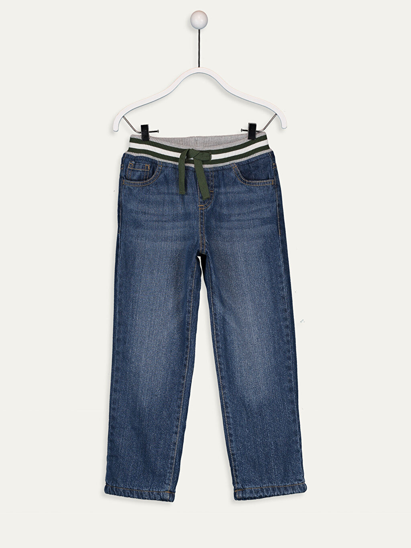 %100 Pamuk %100 Polyester %100 Polyester Bol Normal Bel Erkek Çocuk Jean Pantolon