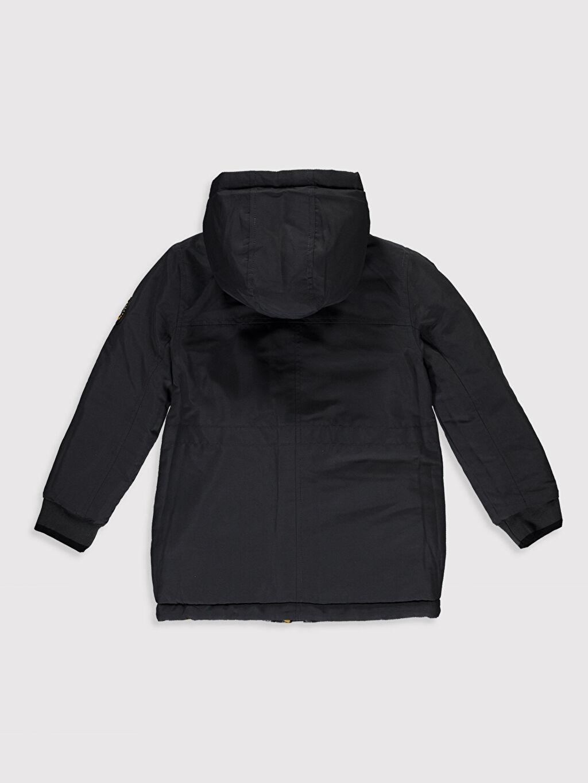 %100 Polyester Erkek Çocuk Çift Taraflı Kalın Kaban