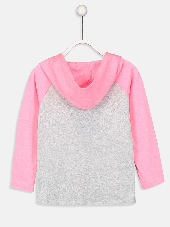 %52 Pamuk %48 Polyester Baskılı Uzun Kol Diğer Standart Tişört Kız Çocuk Baskılı Kapüşonlu Tişört