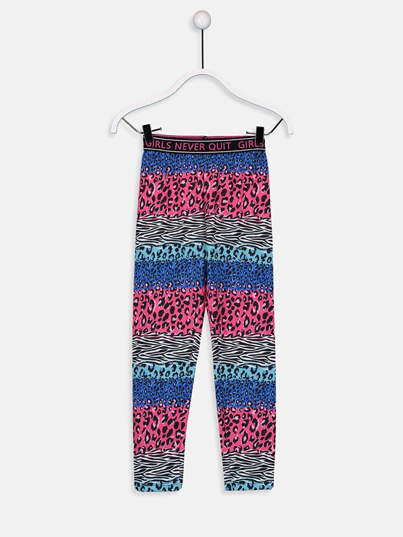 Çok Renkli Kız Çocuk Leopar Desenli Uzun Tayt 9W5242Z4 LC Waikiki