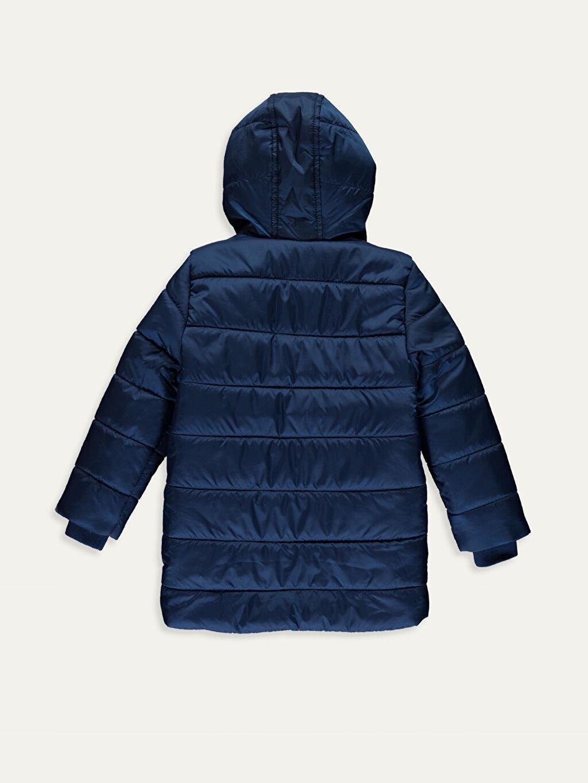 %100 Poliamid %100 Polyester Orta Kaban Erkek Çocuk Kapüşonlu Kaban