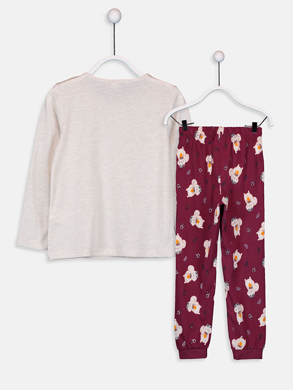 %46 Pamuk %54 Polyester Standart Pijamalar Kız Çocuk Baskılı Pamuklu Pijama Takımı