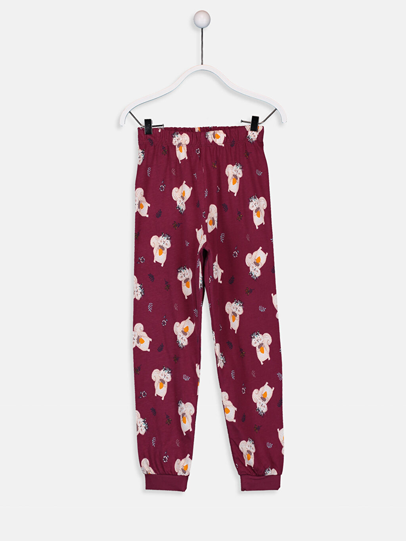 %46 Pamuk %54 Polyester Kız Çocuk Baskılı Pamuklu Pijama Takımı
