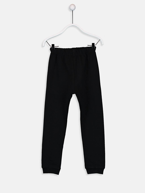 %100 Pamuk Kız Çocuk Yazı Baskılı Pijama Takımı