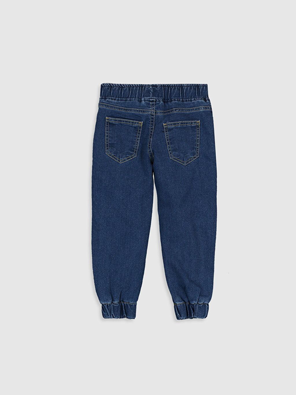%80 Pamuk %18 Polyester %2 Elastan %100 Polyester Bol Normal Bel Erkek Çocuk Beli Lastikli Jean Pantolon