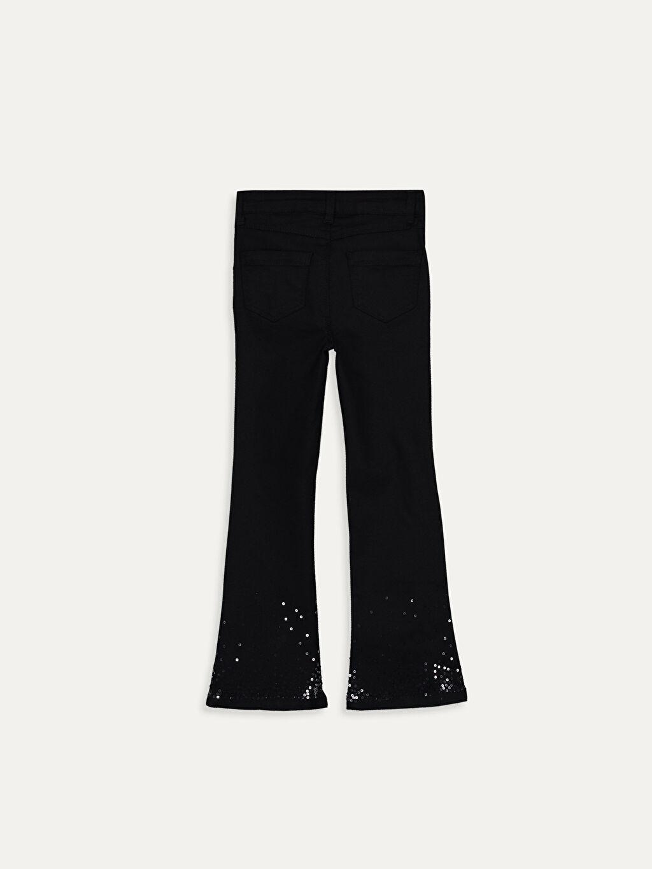 %67 Pamuk %29 Polyester %4 Elastan Normal Bel Standart Kız Çocuk İspanyol Paça Pantolon