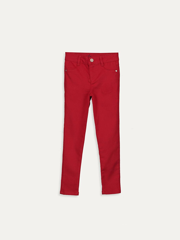 Kırmızı Kız Çocuk Skinny Pantolon 9W5665Z4 LC Waikiki
