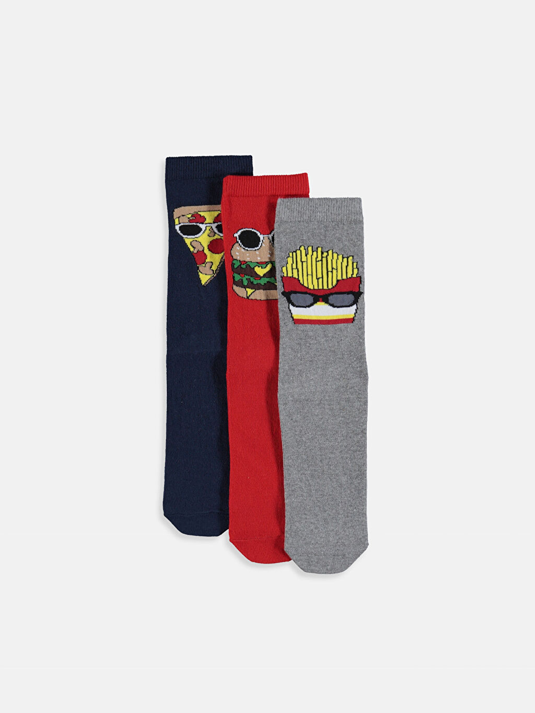 Çok Renkli Erkek Çocuk Soket Çorap 3'lü 9W6998Z4 LC Waikiki