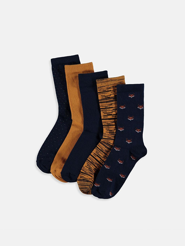 Çok Renkli Erkek Çocuk Soket Çorap 5'li 9W7016Z4 LC Waikiki