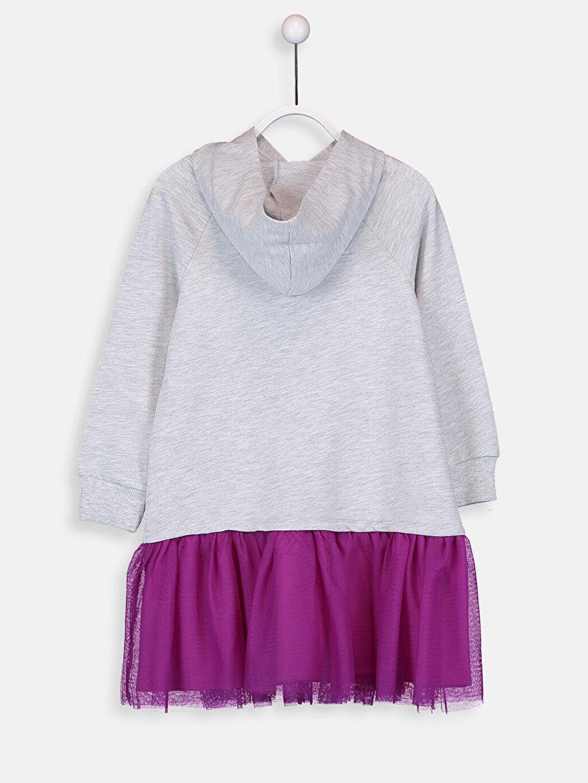 Kız Çocuk Kız Çocuk Pul İşlemeli Sweatshirt Elbise