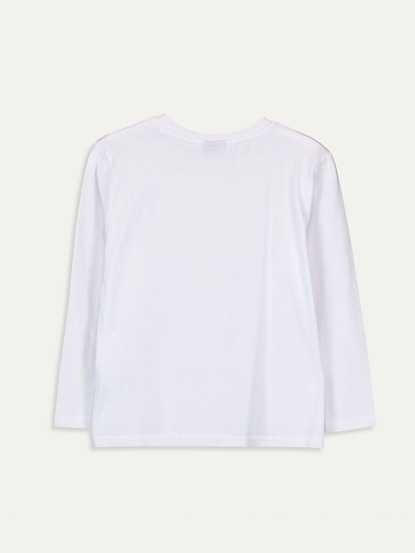 %100 Pamuk Baskılı Normal Bisiklet Yaka Tişört Uzun Kol Erkek Çocuk Atatürk Baskılı Pamuklu Tişört