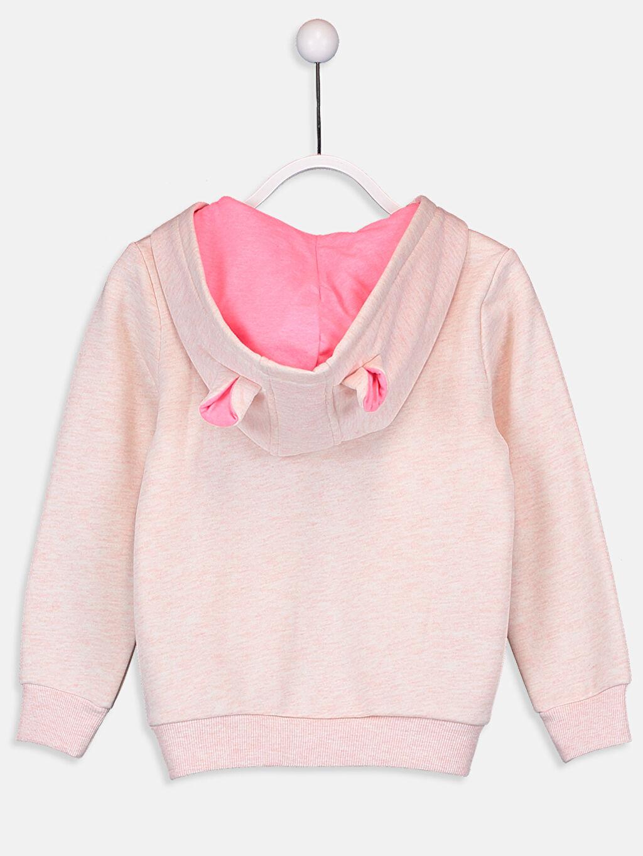 %49 Pamuk %51 Polyester  Kız Çocuk Kapüşonlu Sweatshirt