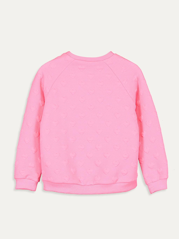 %98 Polyester %2 Elastan  Kız Çocuk Baskılı Sweatshirt