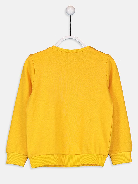 %68 Pamuk %32 Polyester  Kız Çocuk Baskılı Sweatshirt