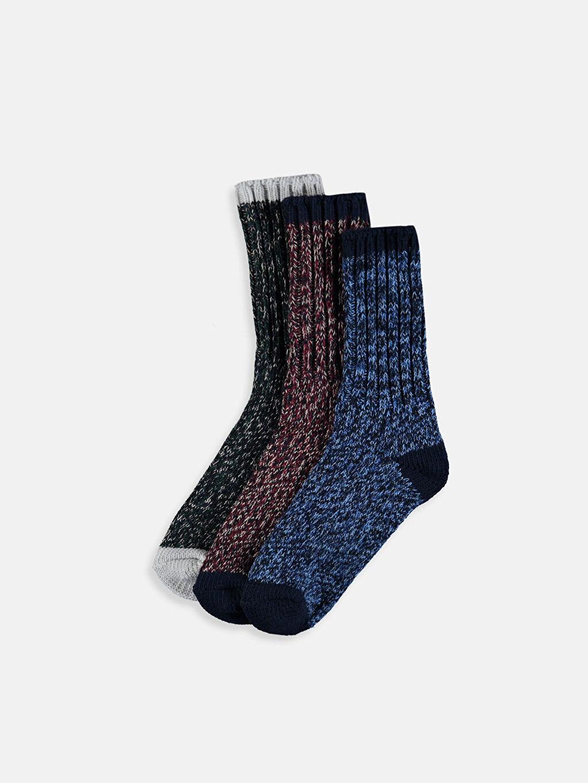 Çok Renkli Erkek Çocuk Soket Çorap 3'lü 9W9211Z4 LC Waikiki
