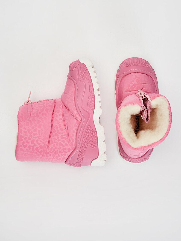 %0 Diğer malzeme (poliüretan) %0 Tekstil malzemeleri (%100 poliester)  Kız Çocuk Kürk Astarlı Kar Botu