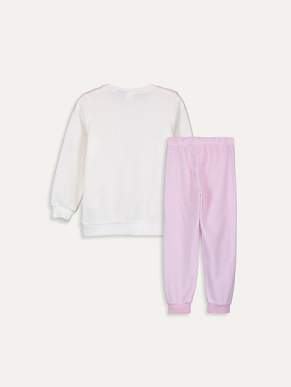 %100 Polyester Standart Pijamalar Kız Çocuk Elsa Baskılı Polar Pijama Takımı