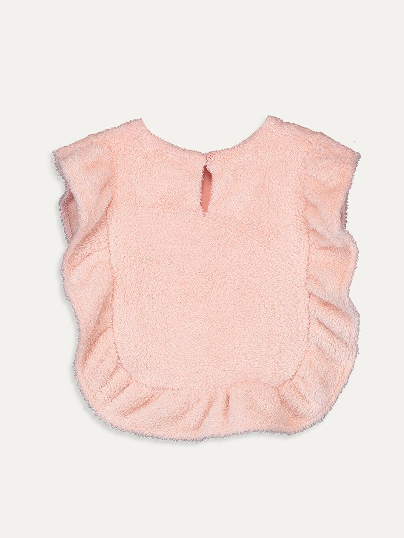 %100 Polyester %100 Pamuk Orta Yelek Kız Çocuk Fırfırlı Panço