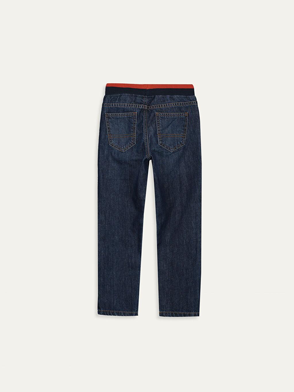 %100 Pamuk Normal Bel Erkek Çocuk Jean Pantolon
