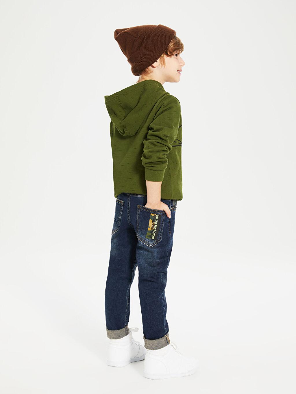 %99 Pamuk %1 Elastan Erkek Çocuk Slim Jean Pantolon