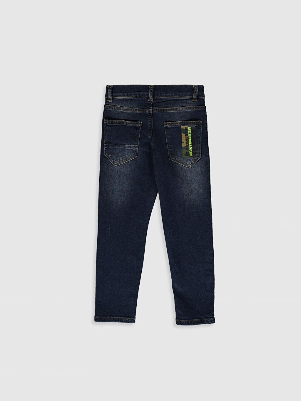 %99 Pamuk %1 Elastan Dar Normal Bel Erkek Çocuk Slim Jean Pantolon