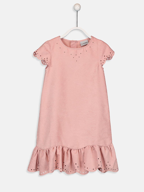 Pembe Kız Çocuk Süet Elbise 9WH753Z4 LC Waikiki