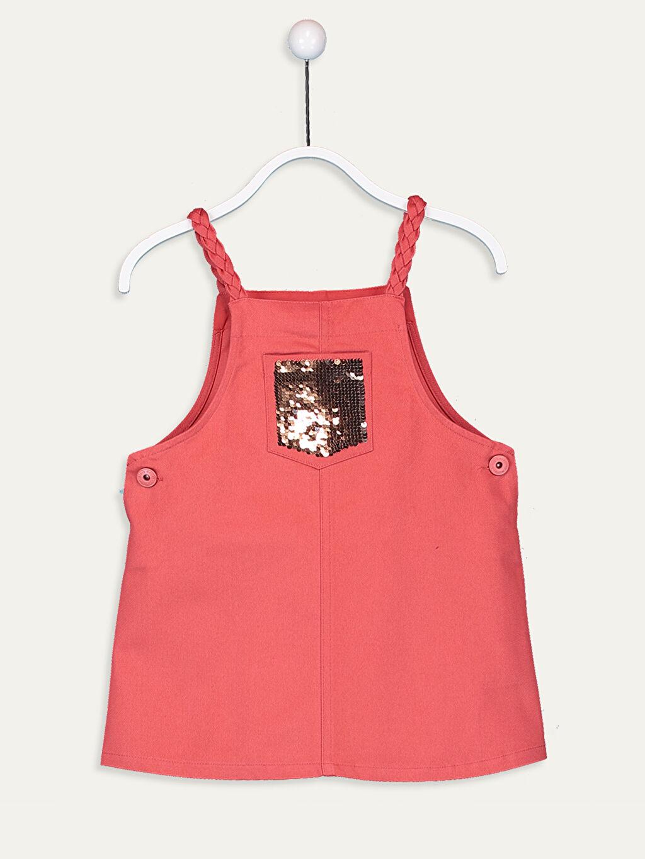 Kırmızı Kız Çocuk Örgü Askılı Elbise 9WH761Z4 LC Waikiki