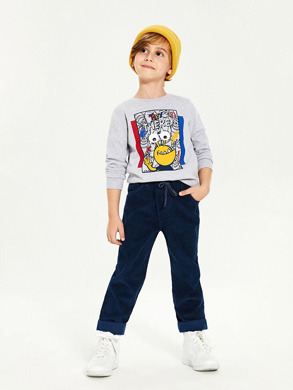 Erkek Çocuk Erkek Çocuk Kadife Pantolon