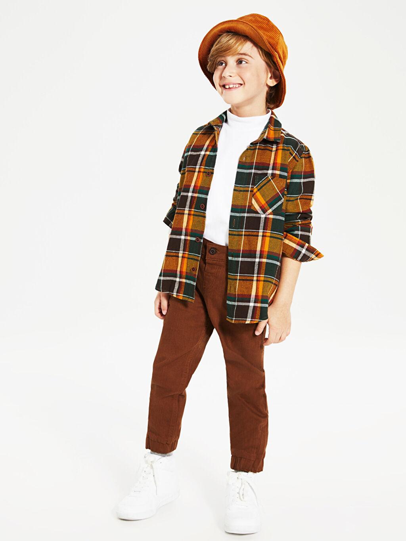 %98 Pamuk %2 Elastan Erkek Çocuk Pamuklu Jogger Pantolon