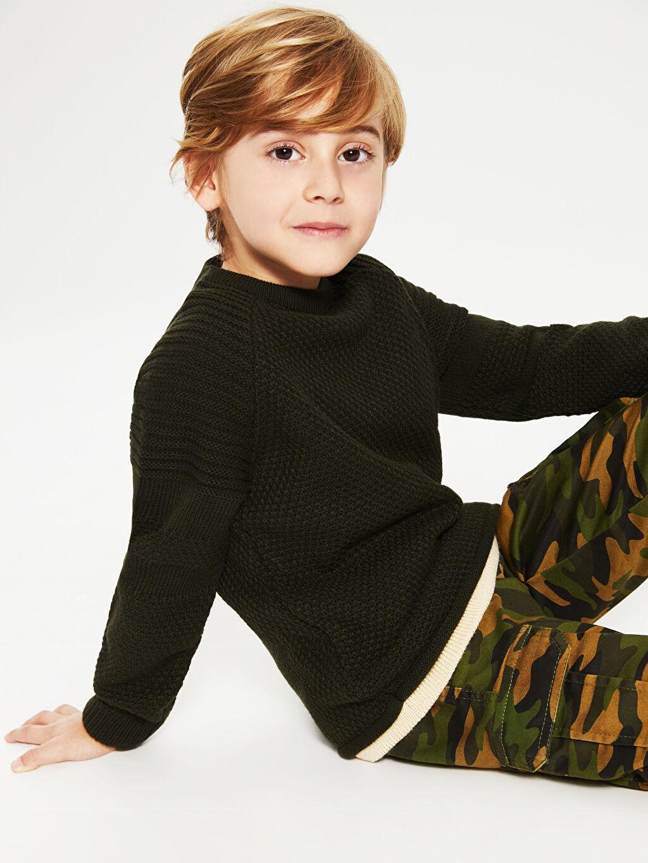 Erkek Çocuk Erkek Çocuk Basic Triko Kazak