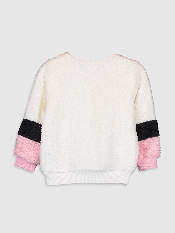 %100 Polyester  Kız Çocuk Unicorn Desenli Pelüş Sweatshirt