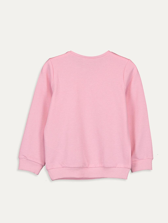 %49 Pamuk %51 Polyester  Kız Çocuk Unicorn Baskılı Pul İşlemeli Sweatshirt