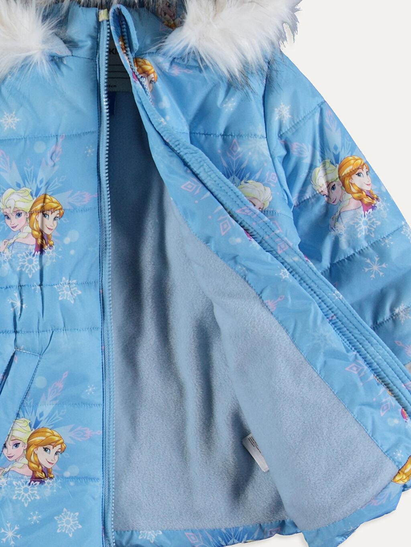 %100 Polyester %100 Polyester Kalın Kaban Kız Çocuk Frozen Baskılı Kalın Kaban