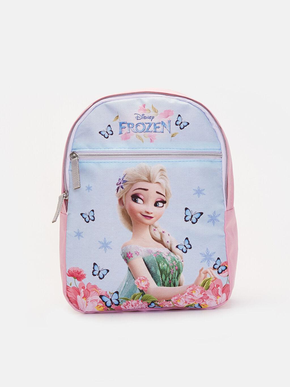 Pembe Kız Çocuk Frozen Elsa Sırt Çantası 9WK317Z4 LC Waikiki