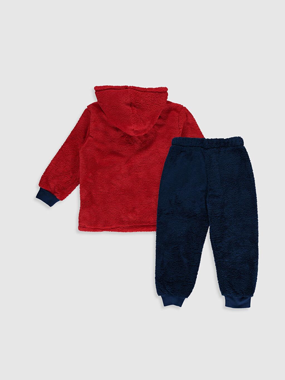 %100 Polyester Standart Pijamalar Erkek Çocuk Spiderman Pelüş Pijama Takımı