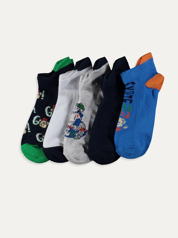Çok Renkli Erkek Çocuk Soket Çorap 5'li 9WL801Z4 LC Waikiki