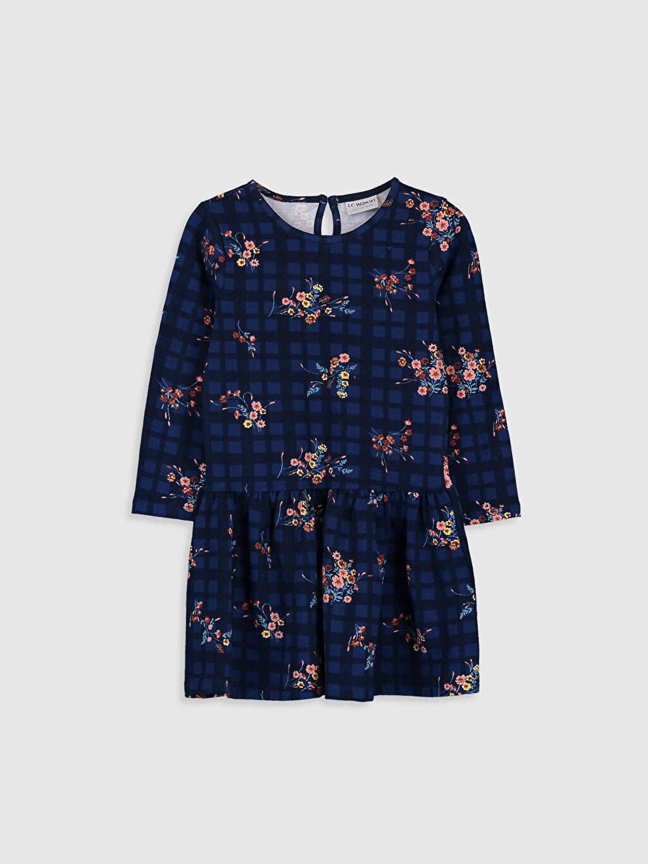 Kız Çocuk Çiçekli Elbise ve Pelüşl Yelek