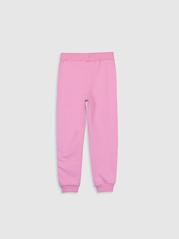 %69 Pamuk %31 Polyester Standart Kız Çocuk Barbie Yazı Baskılı Jogger Eşofman Altı