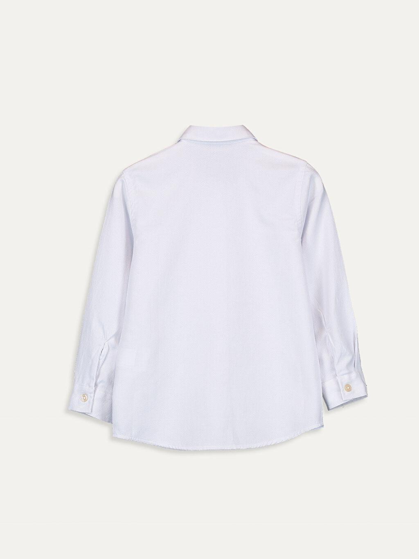 %61 Pamuk %39 Polyester Düz Standart Uzun Kol Erkek Çocuk Uzun Kollu Pamuklu Gömlek