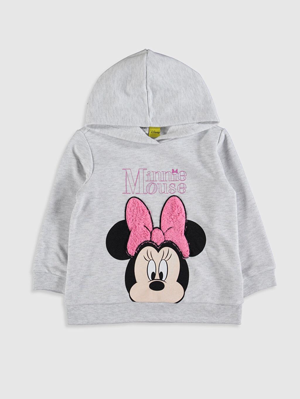 Kız Çocuk Kız Çocuk Minnie Mouse Baskılı Sweatshirt ve Tayt