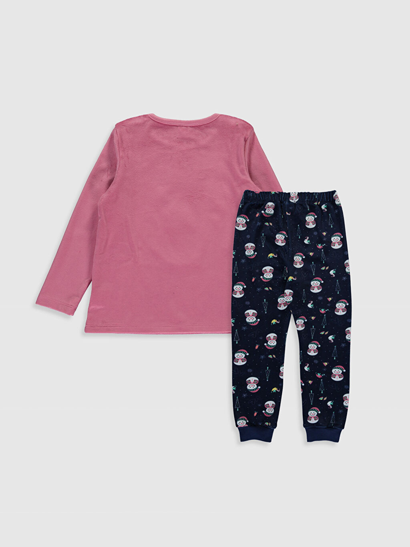 %93 Polyester %7 Elastan Standart Pijamalar Kız Çocuk Kadife Pijama Takımı
